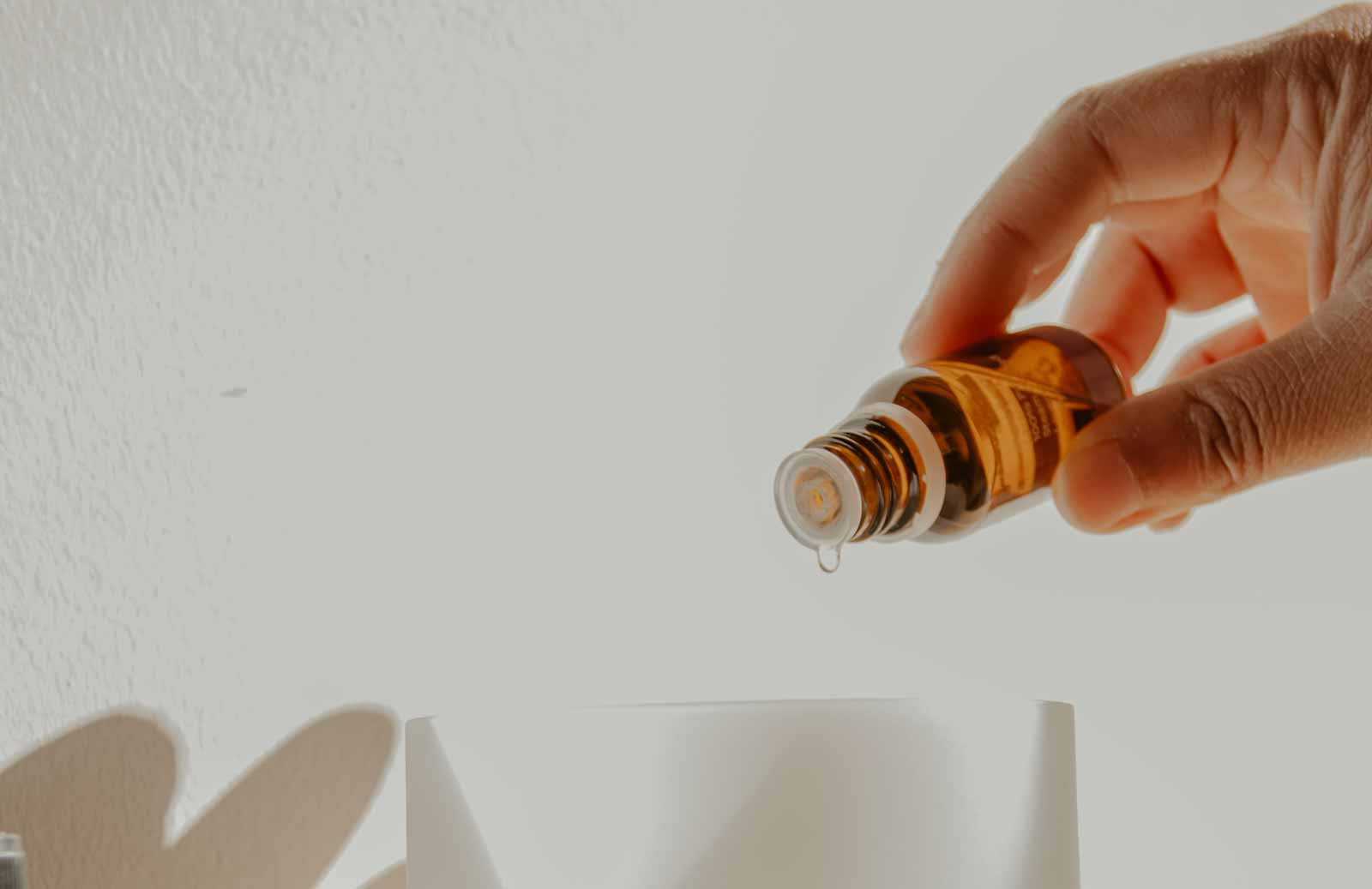 Putting essential oils in a humidifier